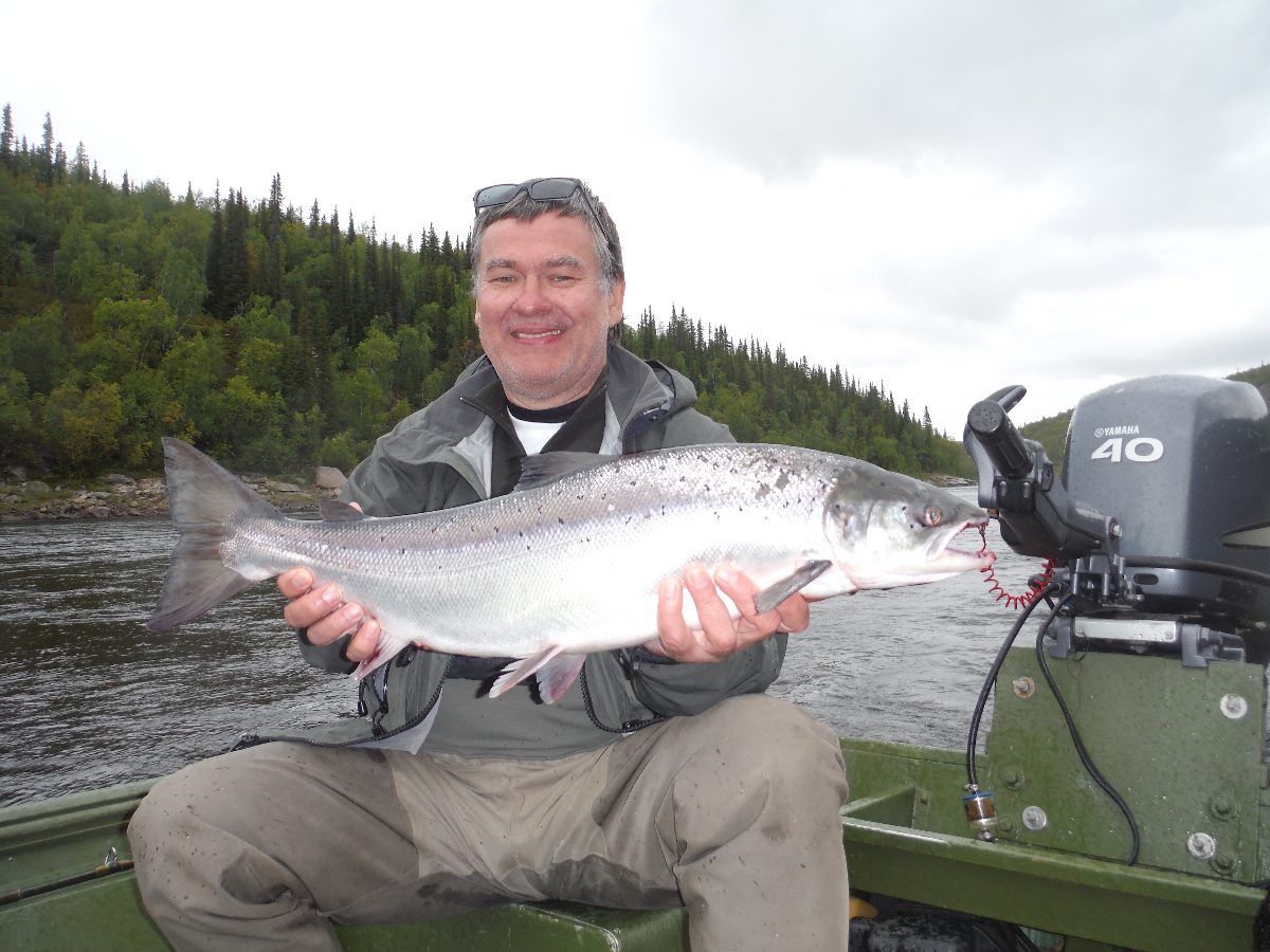 Peter F, between mushroom picking, sauna and the odd Poker game, he catches fish!