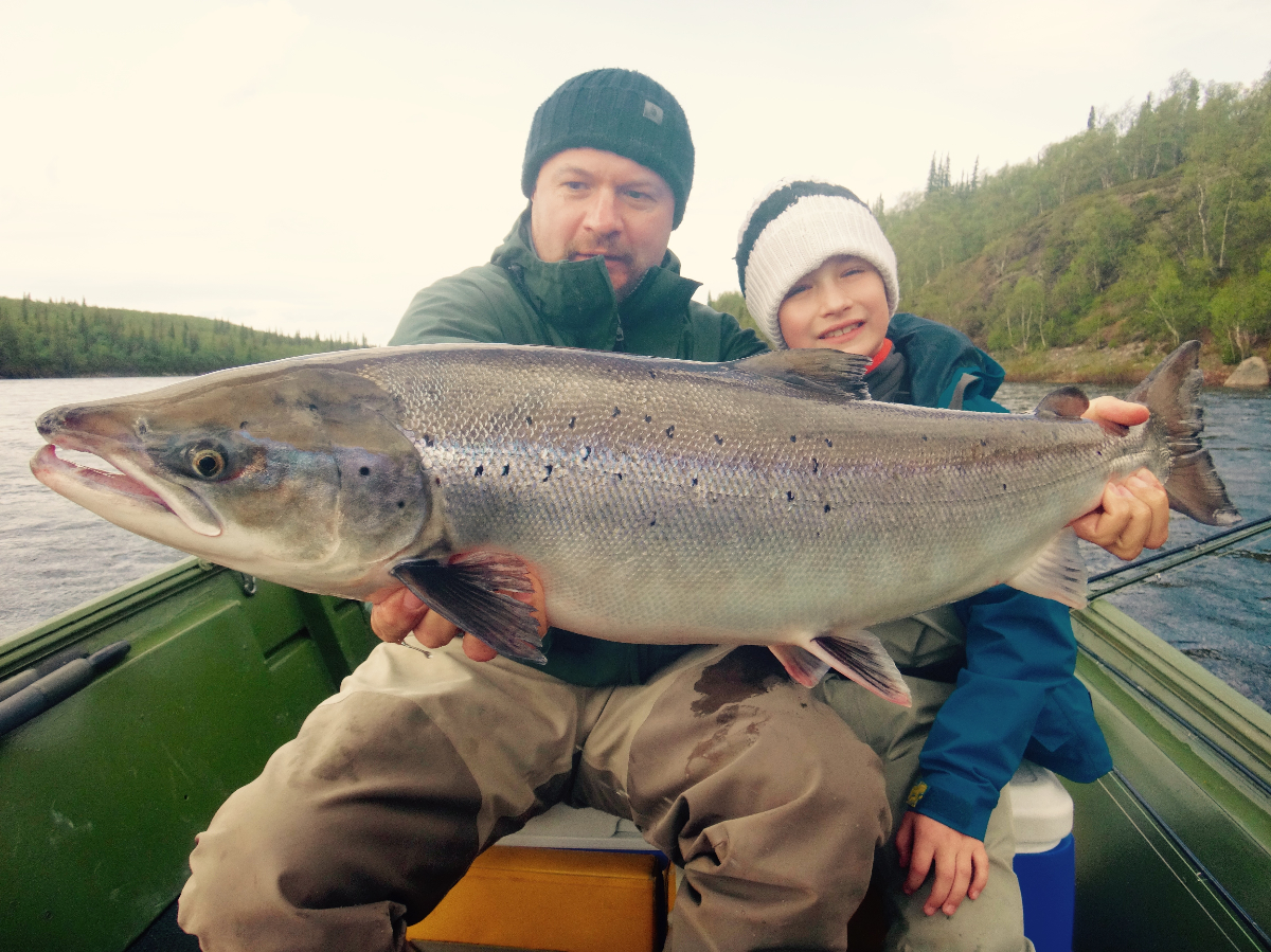 Ilya and Kostya with a great Spring fish