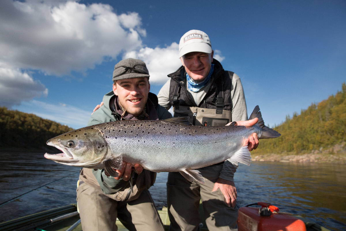 KC, guide Olli and an 11 pounder