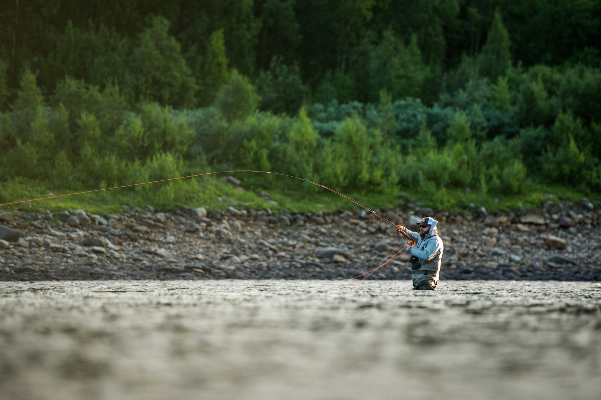 PRC owner Ilya Sherbovich fishing Ponoi below Lapinyarka rapids!
