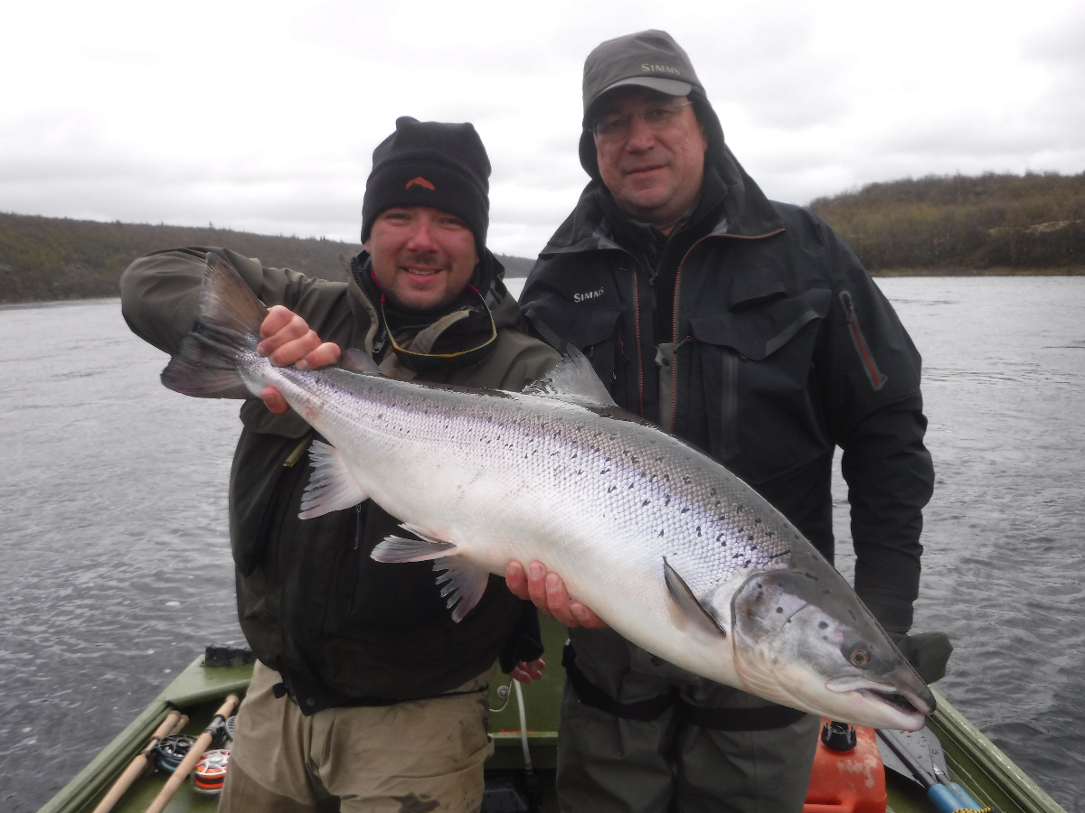Sergey and guide Nick with his 20 pounder!