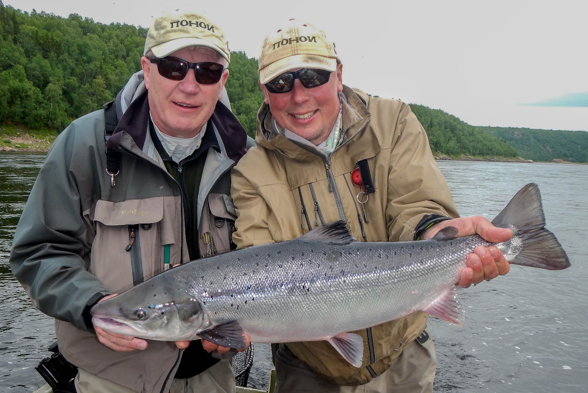 Erkki M. and our head guide Max M. This two have spent a few days in this river...