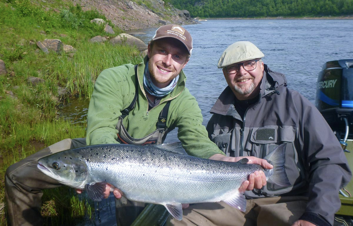Freddie & Jukka H. with a beautiful example of a Summer run fish