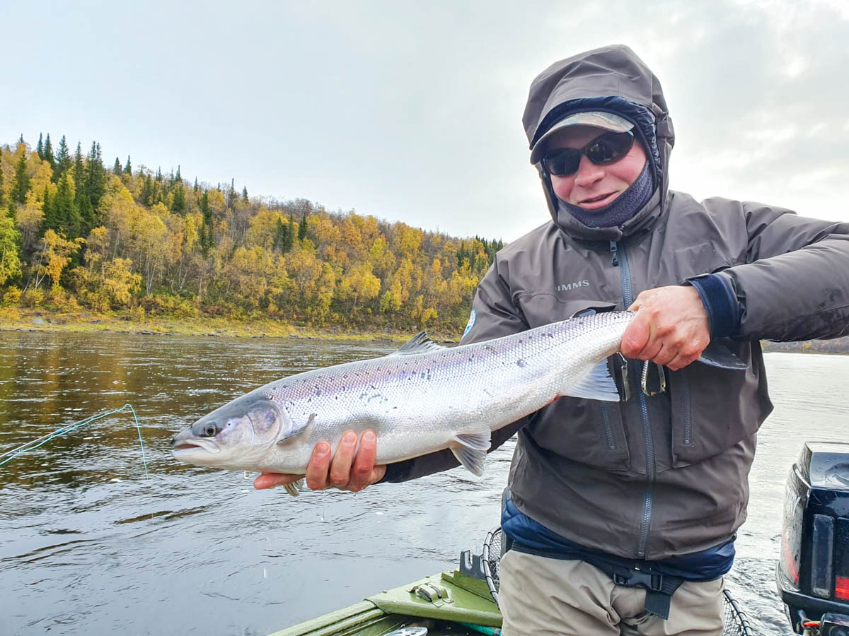 Alex showing a proper Fall-run grilse