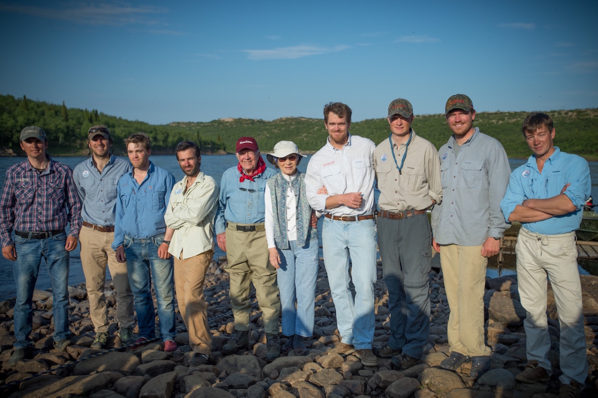 President Carter and his wife Rosalyn with Ponoi guide team