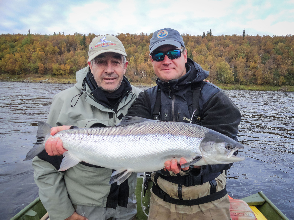 Josep and Ruslan with a sea-liced 16 pounder